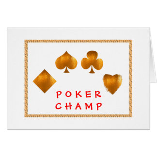 POKER Champion : Giveaway Gifts Card