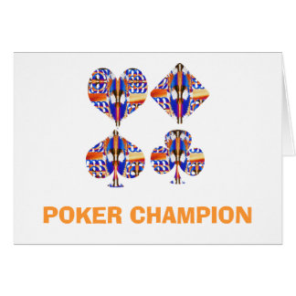 POKER Champion : Giveaway Gifts Greeting Card