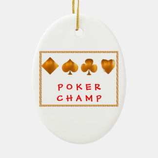 POKER Champion : Giveaway Gifts Ceramic Oval Decoration