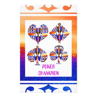 POKER Champion : Giveaway Gifts Customised Stationery