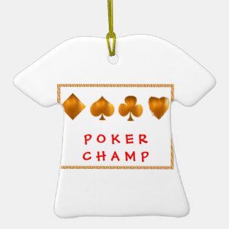 POKER Champion : Giveaway Gifts Ceramic T-Shirt Decoration