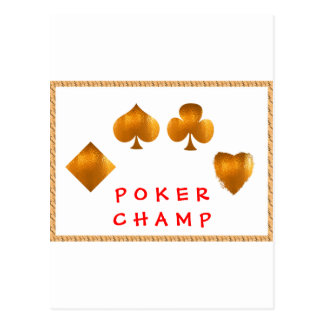 POKER Champion Giveaway Gifts Post Card