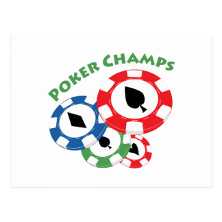 Poker Champs Postcards