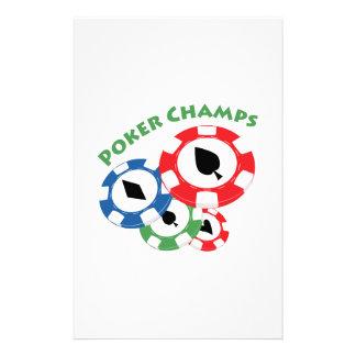 Poker Champs Custom Stationery