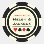 Poker Chip Black and White