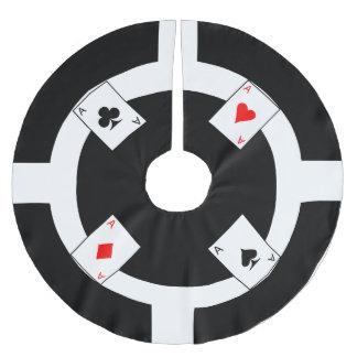 Poker Chip - Black Brushed Polyester Tree Skirt