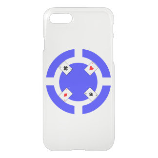 Poker Chip - Blue iPhone 7 Case