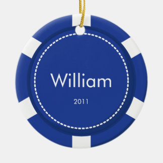 Poker Chip Christmas Ornament