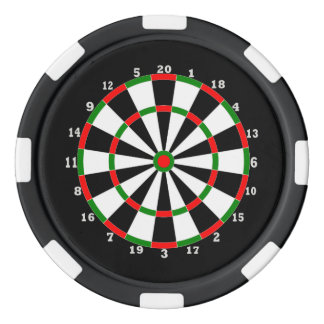 Poker Chip -Dartboard Design
