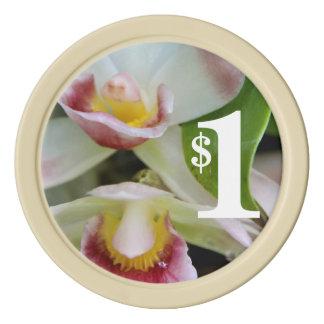 Poker Chip - Fan Shaped Orchid Poker Chip Set
