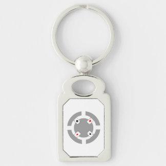 Poker Chip - Grey Key Ring