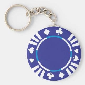 Poker Chip Keychain