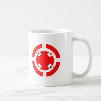 Poker Chip - Red Basic White Mug