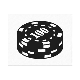 Poker chips 100 gallery wrapped canvas