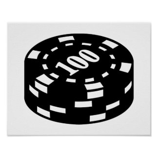 Poker chips 100 posters