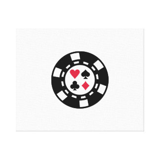 Poker chips casino stretched canvas prints