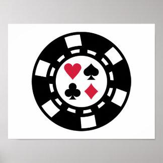 Poker chips casino poster