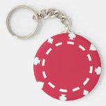 Poker chips keychain