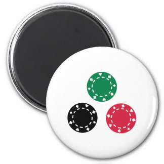 Poker chips refrigerator magnet