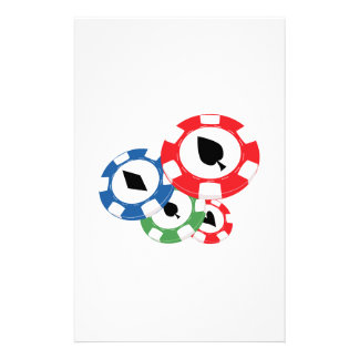 Poker Chips Personalised Stationery