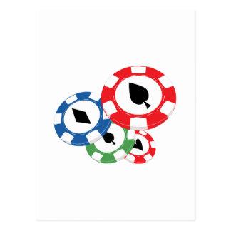 Poker Chips Postcards