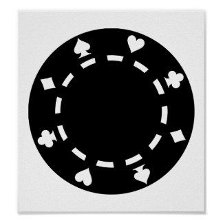 Poker chips posters