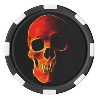 Poker Chips Skull of Flames Template
