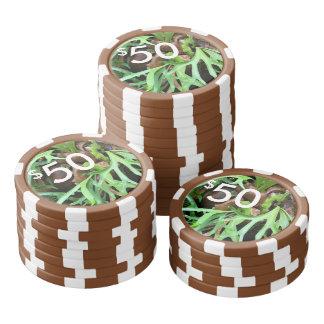 Poker Chips - Staghorn Fern