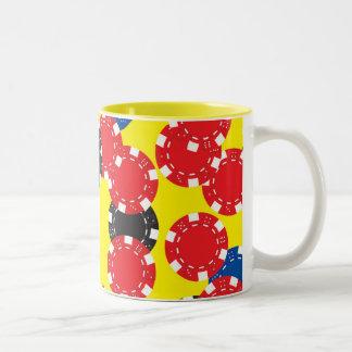 Poker Chips Two-Tone Mug