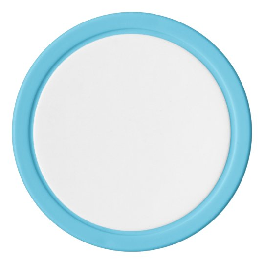 Clay Poker Chips, Baby Blue Solid Edge