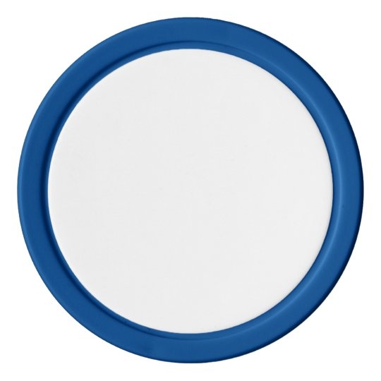 Clay Poker Chips, Blue Solid Edge