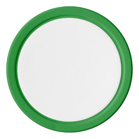 Clay Poker Chips, Green Solid Edge