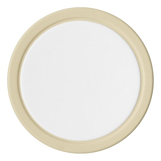 Clay Poker Chips, Ivory Solid Edge