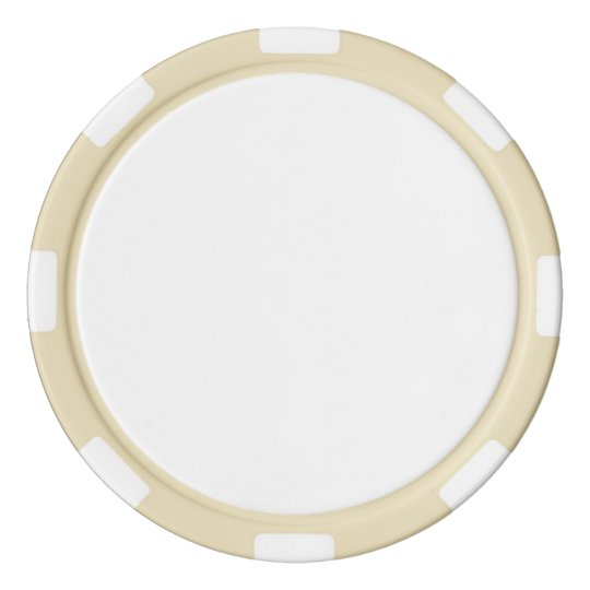Clay Poker Chips, Ivory Striped Edge