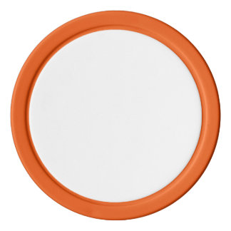 Poker Chips w/ Orange Solid Edge