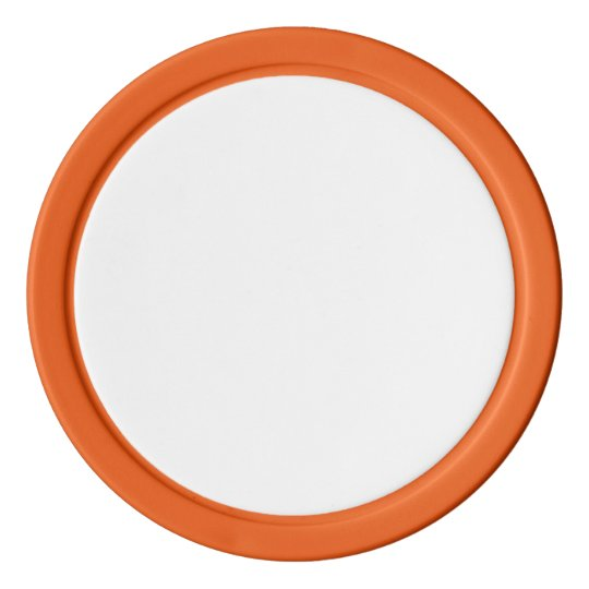 Clay Poker Chips, Orange Solid Edge