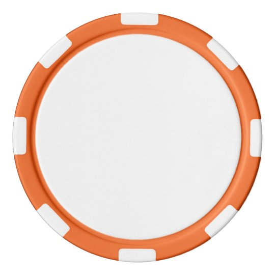 Clay Poker Chips, Orange Striped Edge