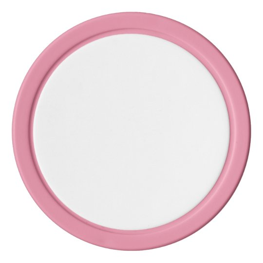 Clay Poker Chips, Pink Solid Edge