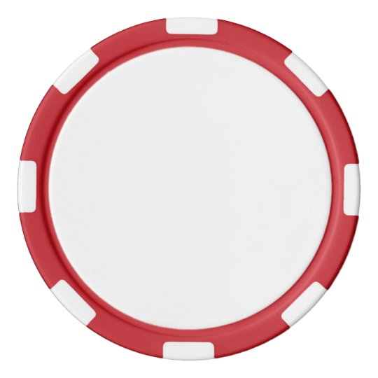 Clay Poker Chips, Red Striped Edge
