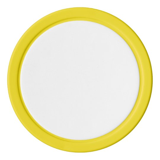 Clay Poker Chips, Yellow Solid Edge