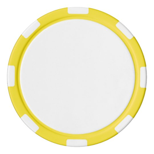 Clay Poker Chips, Yellow Striped Edge