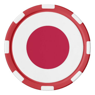 Poker chips with Flag of Japan