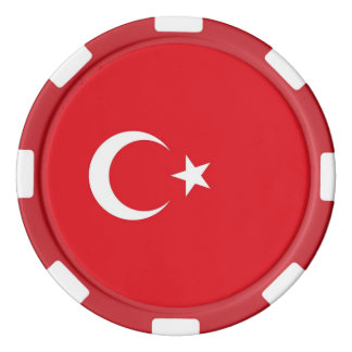 Poker chips with Flag of Turkey