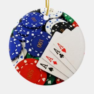 Poker Christmas Ornament