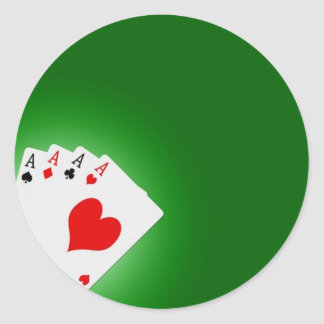Poker Classic Round Sticker