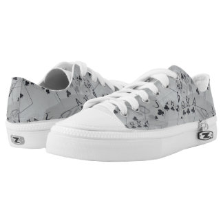 Poker,_Club_Flush,_Printed_Unisex_Zipz_Sneakers Printed Shoes