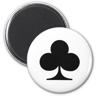 Poker clubs magnet