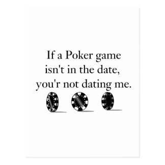 Poker Dating items Postcard