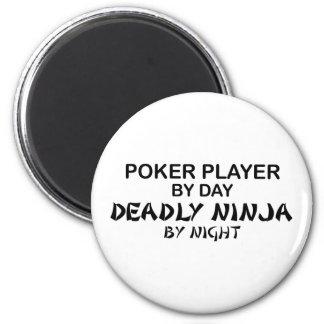 Poker Deadly Ninja by Night 6 Cm Round Magnet