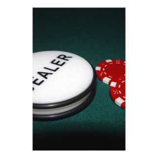 Poker Dealer Button Stationery Paper